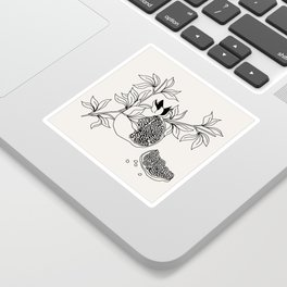 Pomegranate (BW) Sticker