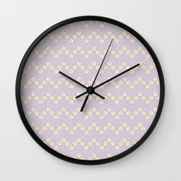Chevron flowers - Orchid Hush Wall Clock