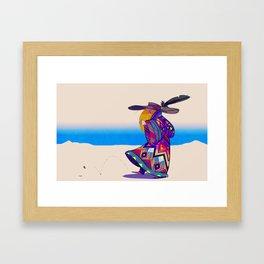 Dune Girl Framed Art Print
