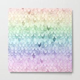 RAINBOW MERMAIDSCALES - MAGIC MERMAID Metal Print