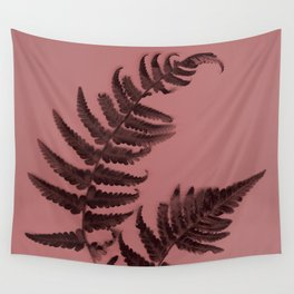 Fern on marsala Wall Tapestry