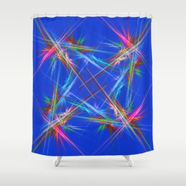 Fractal laser show Shower Curtain
