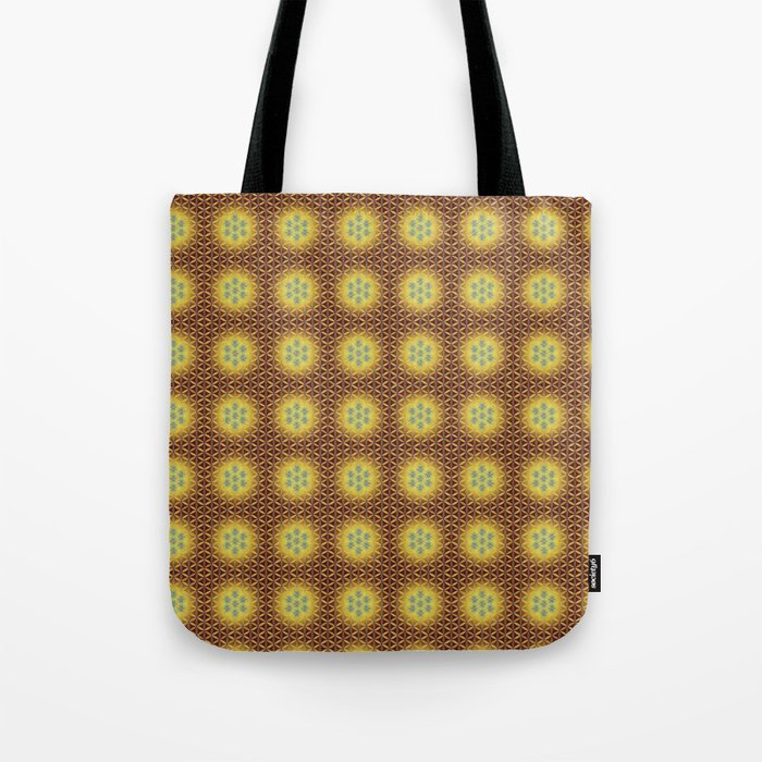 VIRGO sun sign Flower of Life repeat pattern Tote Bag