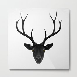 The Black Deer Metal Print