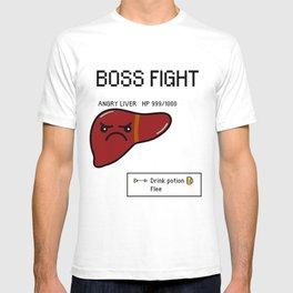 Cute Boss Fight - Angry Liver Final Boss T-shirt