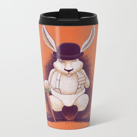 A Clocwork Carrot Metal Travel Mug
