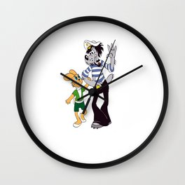 """¡Me las pagarás!""  o !Deja que te coja!   ( Ну, погоди! ) Wall Clock"