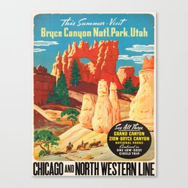 Vintage poster - Bryce Canyon Canvas Print