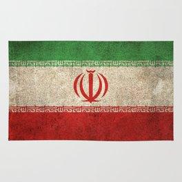 Old and Worn Distressed Vintage Flag of Iran Rug