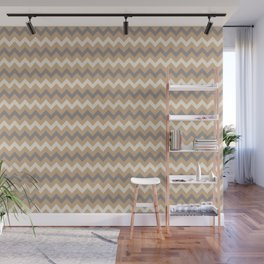 Ligonier Tan SW 7717, Slate Violet Gray SW9155, and Creamy Off White SW7012 Chevron Horizontal Lines Wall Mural