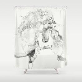 A Bigger World #2 Shower Curtain