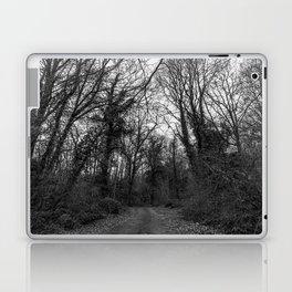 Monochromatic forest path Laptop & iPad Skin