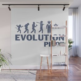 Evolution - Pilot Wall Mural