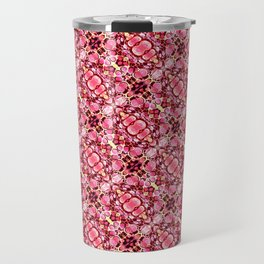 Red and pink flower pattern Travel Mug
