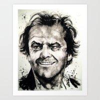 jack nicholson Art Prints featuring Jack Nicholson by Chuck Hodi