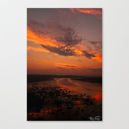 Sun Rise And Sunsets Canvas Print