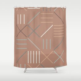 Geometric Shapes 07 Shower Curtain