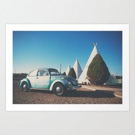 the wigwam motel ... Art Print