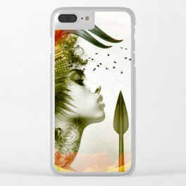Afro Warrior Clear iPhone Case