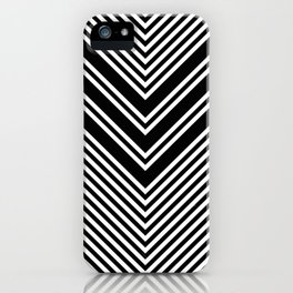 Back and White Lines Minimal Pattern No.1 iPhone Case