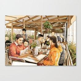 Farm Cafe Canvas Print