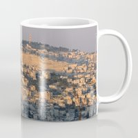 israel Mugs featuring Jerusalem Living in Israel by Rachel J