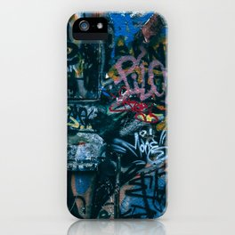 A graffiti wall in  Szeged, Hungary iPhone Case
