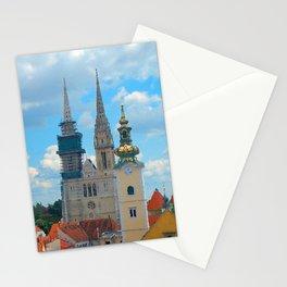 Croatia Skyline Stationery Cards