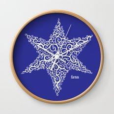 David's Star Wall Clock