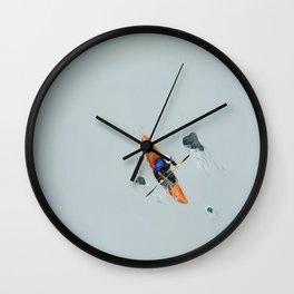 Solitude- Kayaker Wall Clock