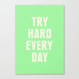 Try Hard Every Day Canvas Print
