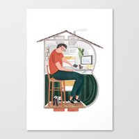 boy Canvas Prints featuring Boy by Manca Flajs