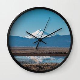 Mt Shasta Reflection Wall Clock