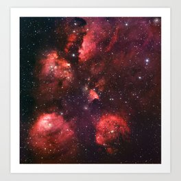The Cat's Paw Nebula Art Print