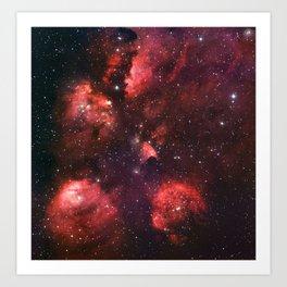 The Cat's Paw Nebula Art Print