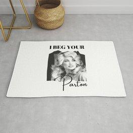Dolly Parton - I Beg Your Parton Dolly Parton Gift Rug