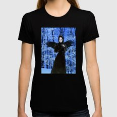 Nevermore - Edgar Allan Poe Womens Fitted Tee Black SMALL