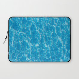 Blue pool water texture - fresh water background Laptop Sleeve