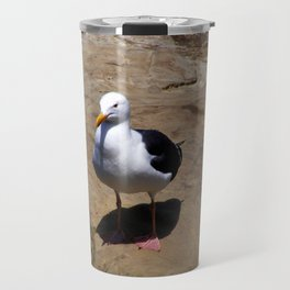 Me and My Shadow ~ Seagull at La Jolla, California Travel Mug