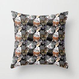 Derp Cats Throw Pillow