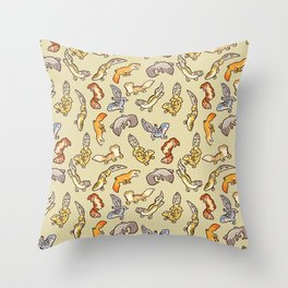 Geckos Throw Pillow