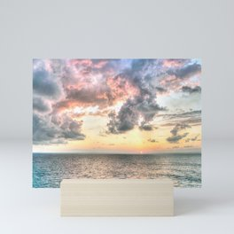 Cloudy Sunset Mini Art Print
