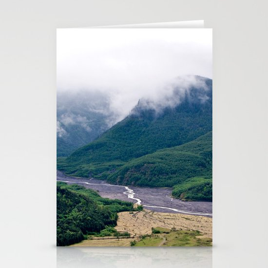 Mount St. Helen's River Stationery Cards
