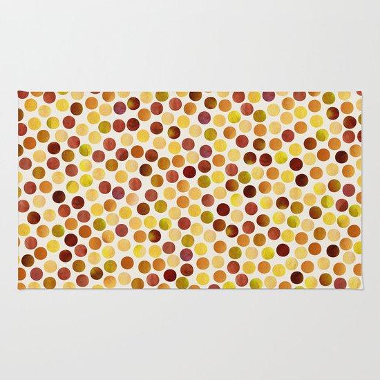 Watercolor Dots_Amber Rug