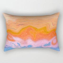 Pastel Beach Orange Warped Rectangular Pillow