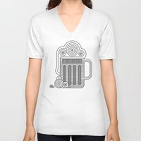 beer V-neck T-shirts featuring Beer by twincollective