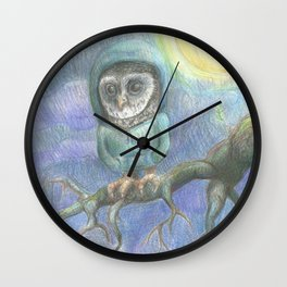 Chilly Owl Wall Clock