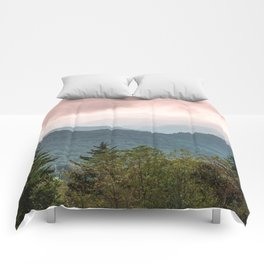 Great Smoky Mountain National Park Sunset Layers III - Nature Photography Comforters