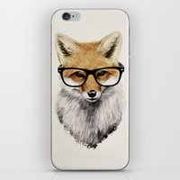 fox iPhone & iPod Skins featuring Mr. Fox by Isaiah K. Stephens