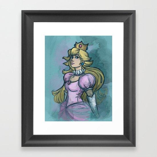 Princess Peach Framed Art Print